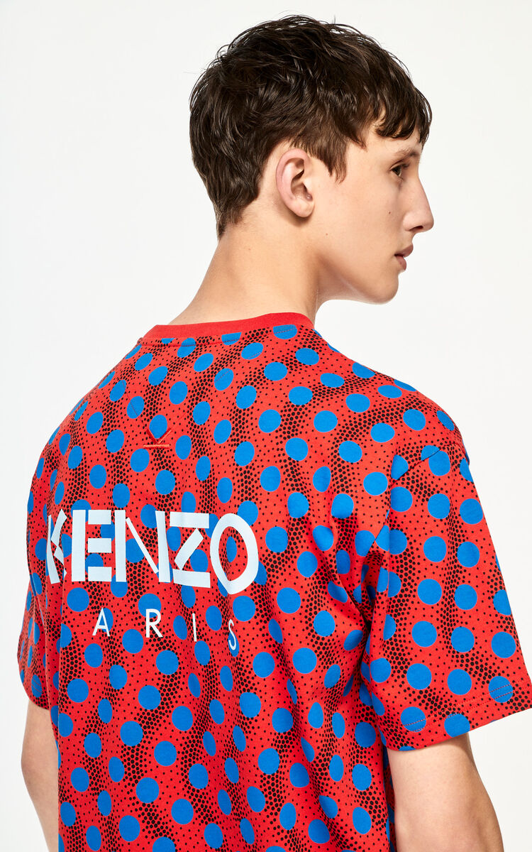 MEDIUM RED 'Wavy Dots' T-shirt for women KENZO