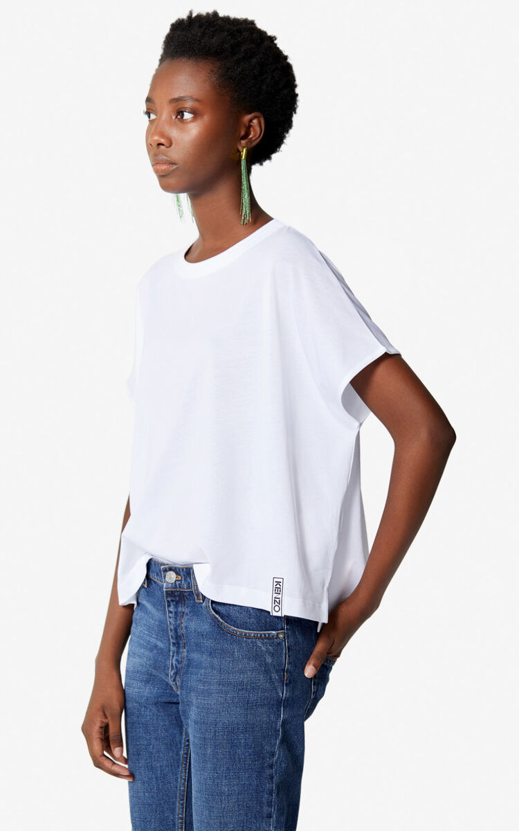 WHITE Cropped t-shirt for women KENZO