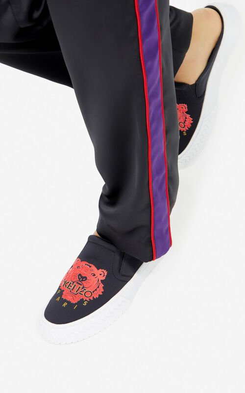 BLACK 'Chinese New Year Capsule' K-skate slip-on mules for women KENZO
