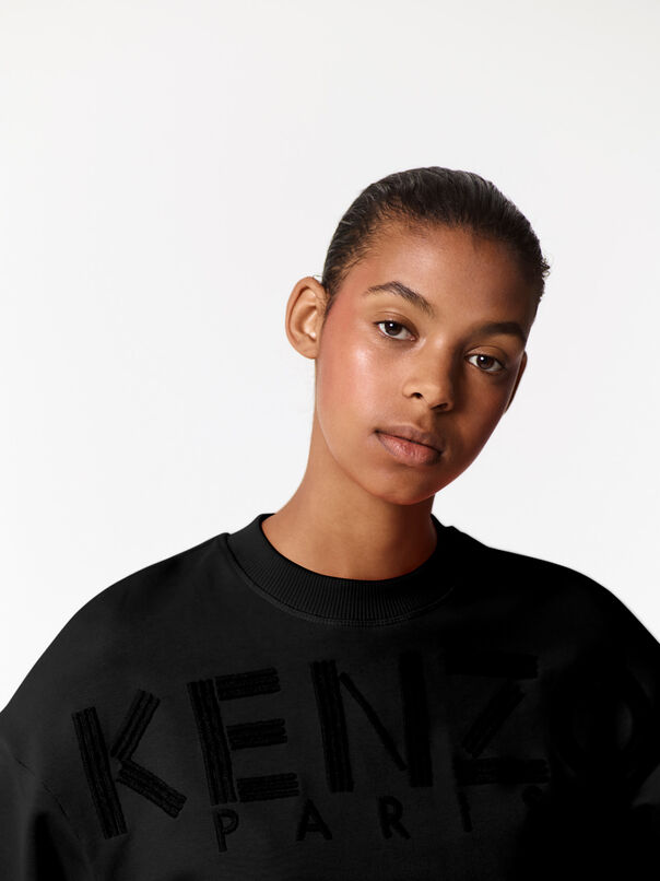 BLACK KENZO Embroidered Sweatshirt  for women