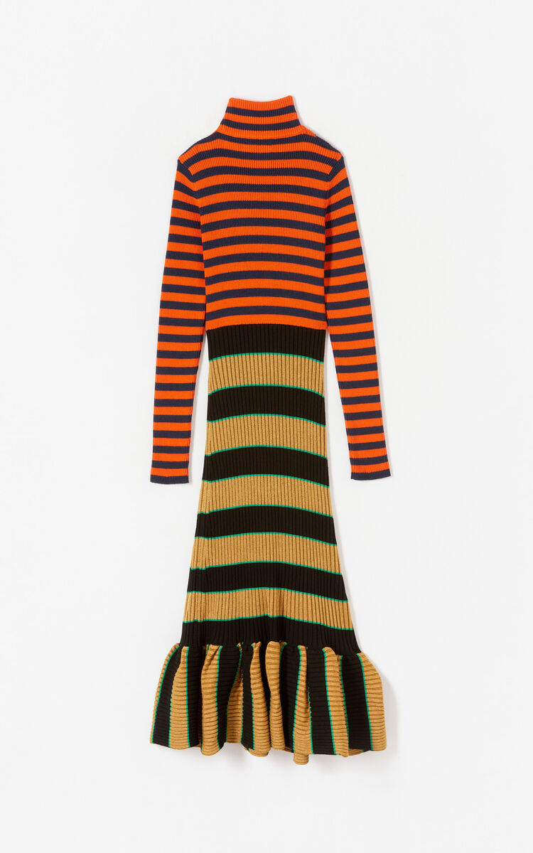 MULTICOLOR Striped knit dress for women KENZO