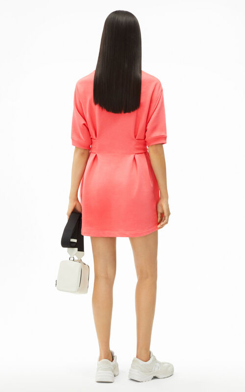 CORAL Tiger Crest fitted sweatshirt dress for women KENZO