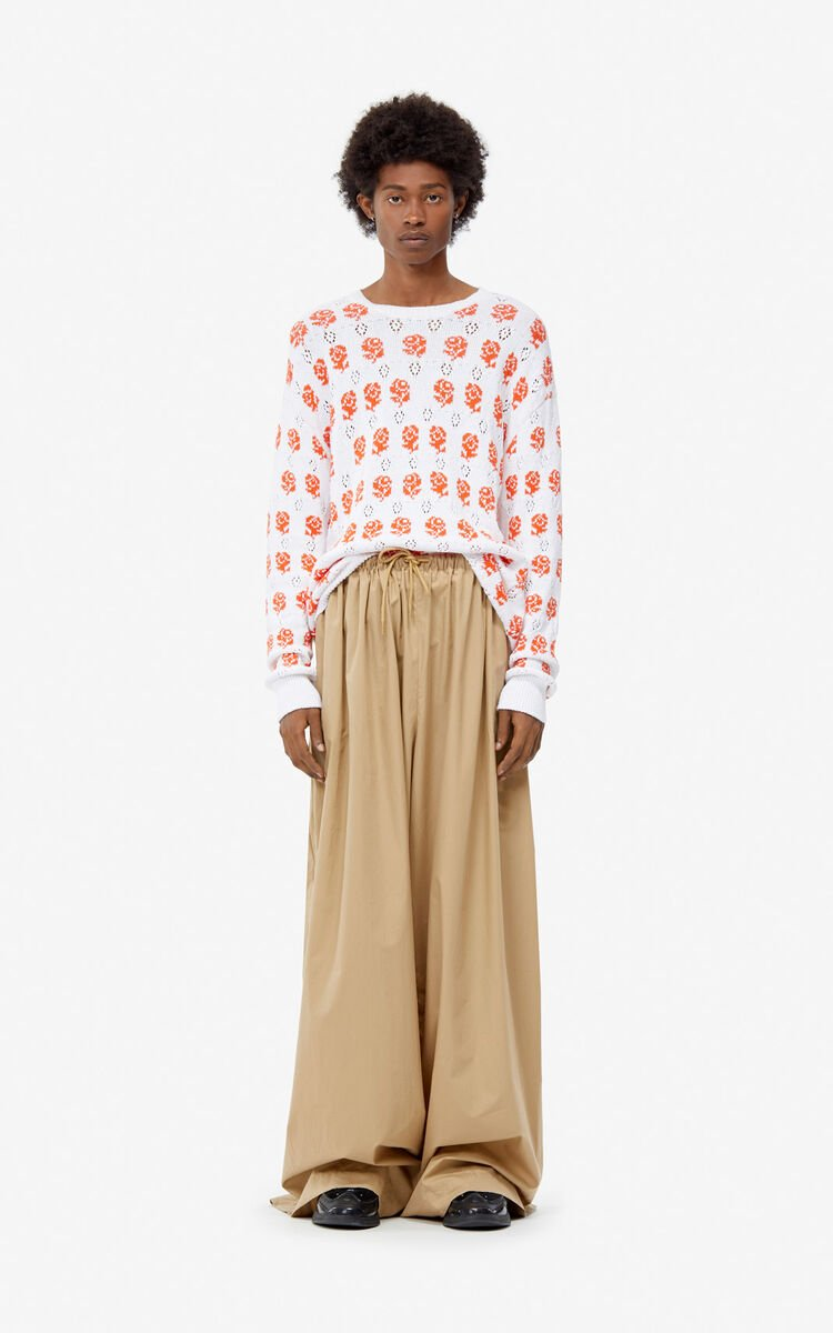 DARK BEIGE Wide trousers for women KENZO