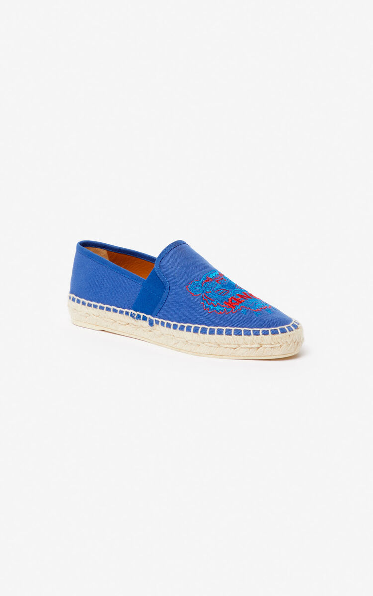 ELECTRIC BLUE Tiger elasticated espadrilles for unisex KENZO