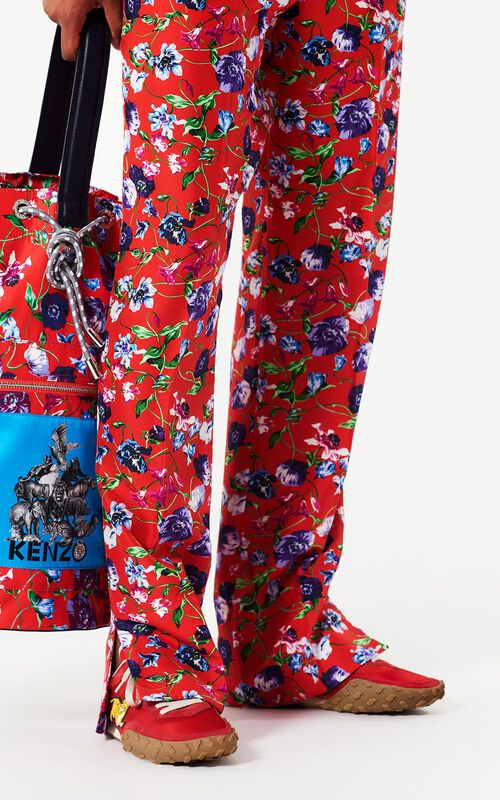 MEDIUM RED 'Wild Flowers' Pants for women KENZO