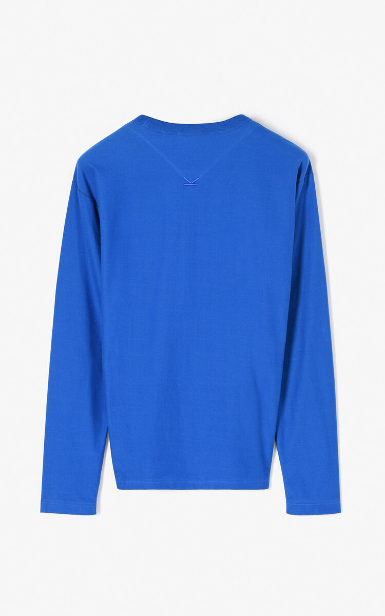 FRENCH BLUE 'Eagle' Long Sleeve T-shirt for women KENZO