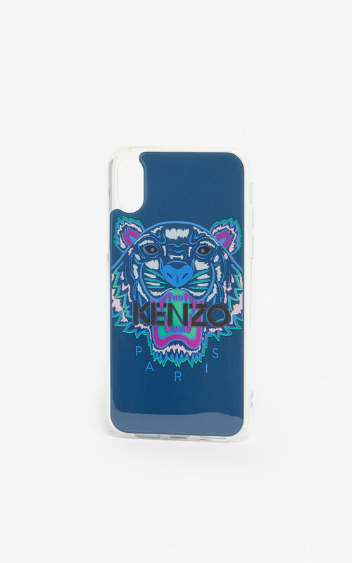 DEEP SEA BLUE iPhone X/XS Tiger case for unisex KENZO