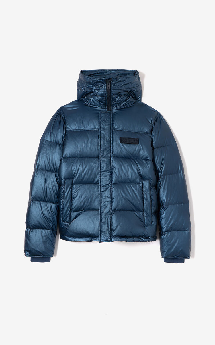 ELECTRIC BLUE Quilted puffer jacket for men KENZO