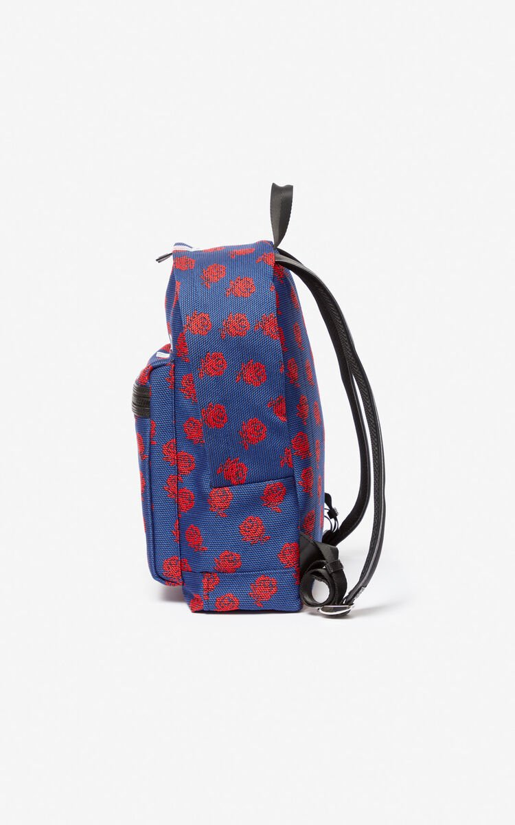 COBALT KENZO 'Roses' logo backpack for men