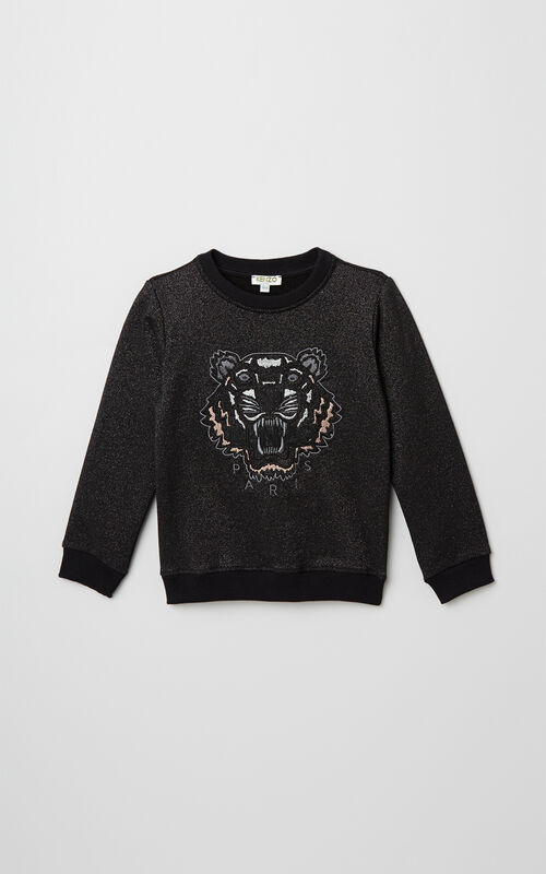BLACK Gleaming Tiger Sweat for women KENZO
