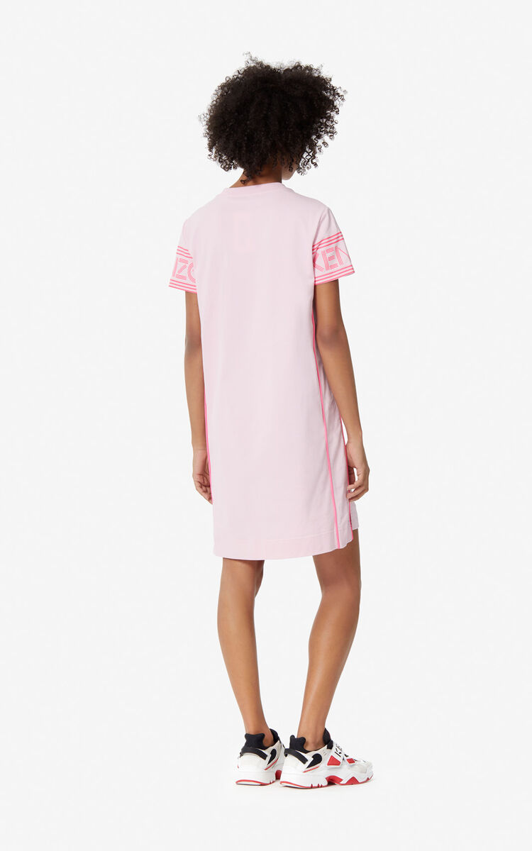 PASTEL PINK KENZO Logo T-shirt dress for women