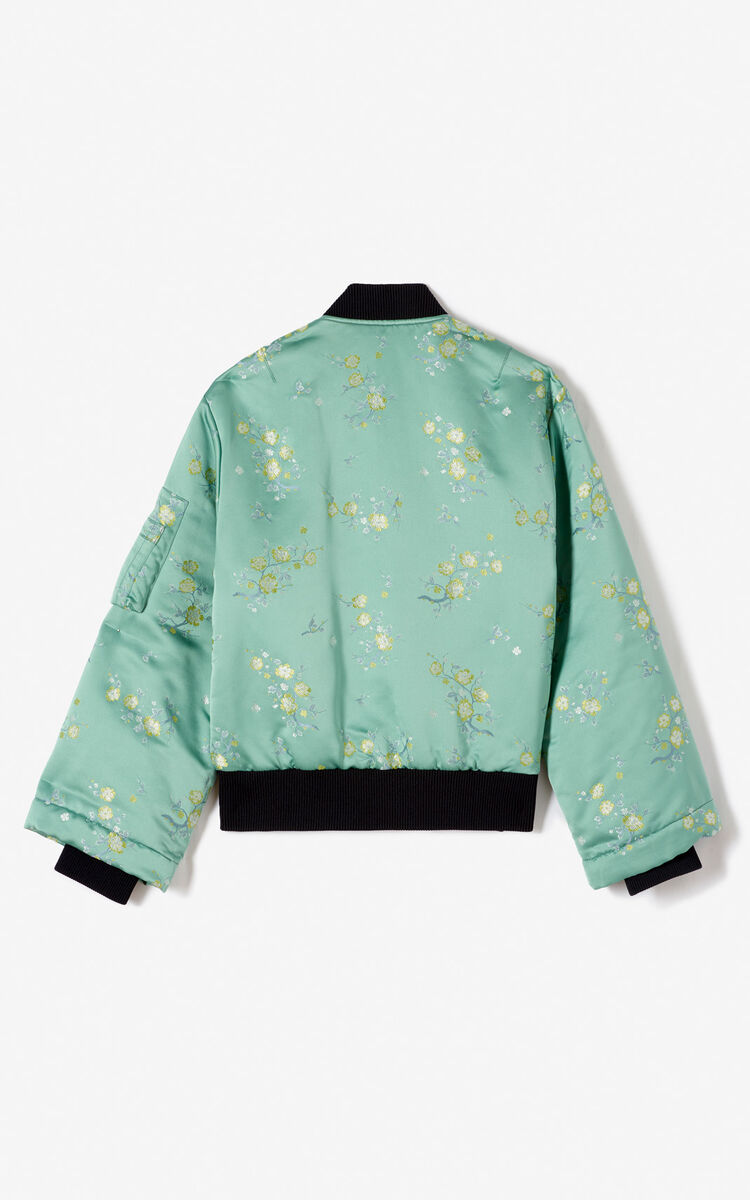 MINT 'Cheongsam Flower' designer bomber jacket for women KENZO
