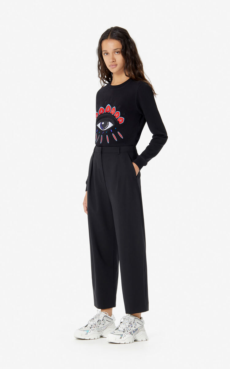 BLACK 'Holiday Capsule' slim-fit trousers for women KENZO