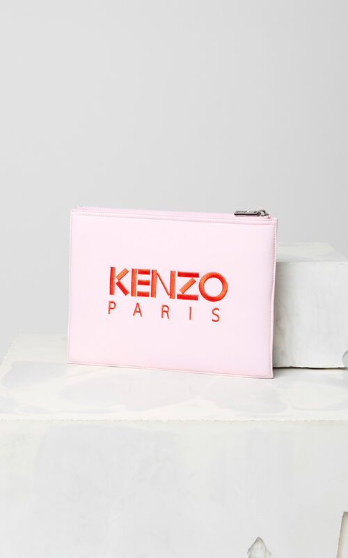 FLAMINGO PINK 'Valentine's Day Capsule' A4 Eye clutch for unisex KENZO