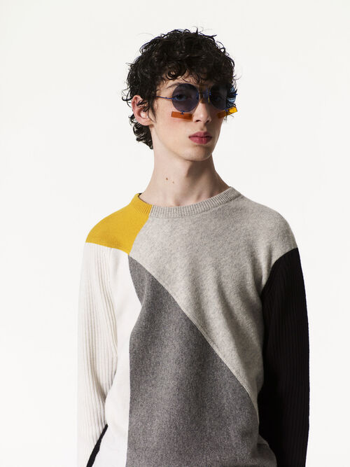 OFF WHITE Colorblock sweater for men KENZO