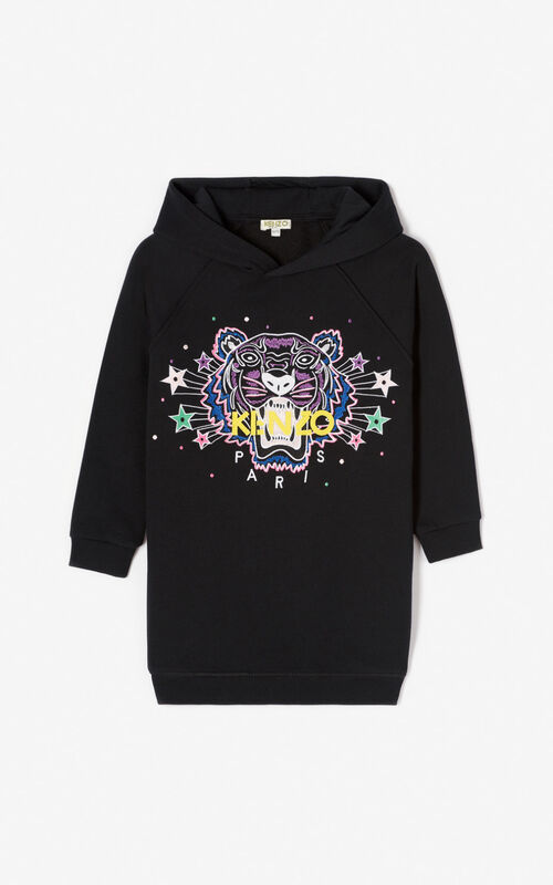 BLACK 'Super KENZO' tiger sweatshirt for men