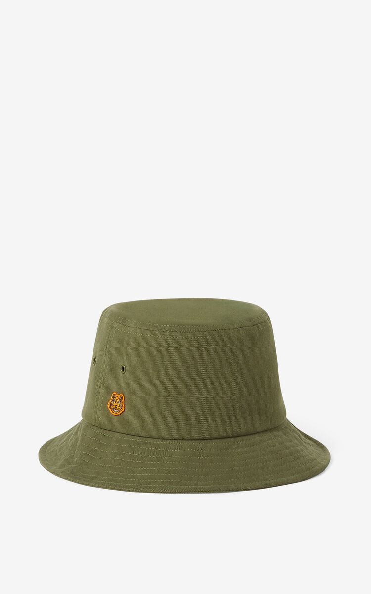 KHAKI Tiger Crest cap for men KENZO