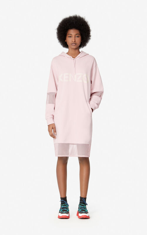 FADED PINK KENZO Logo sweatshirt dress  for women