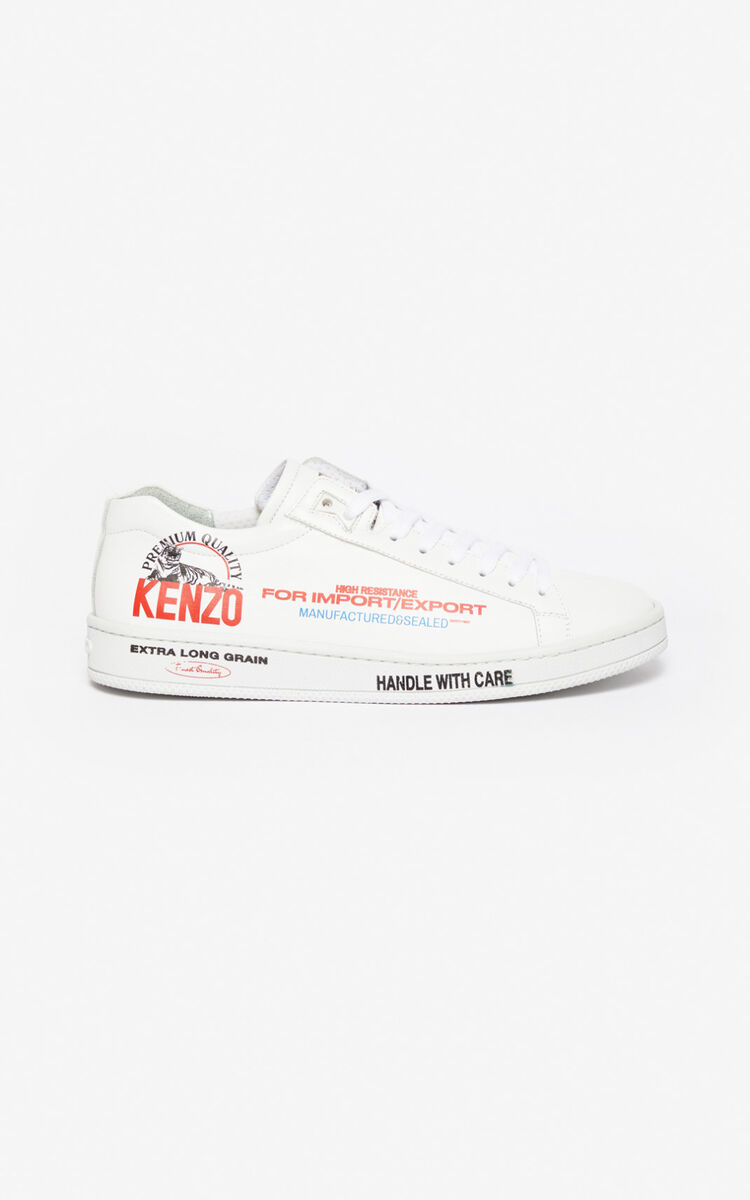 MEDIUM RED 'Rice Bags' Tennix sneakers for unisex KENZO