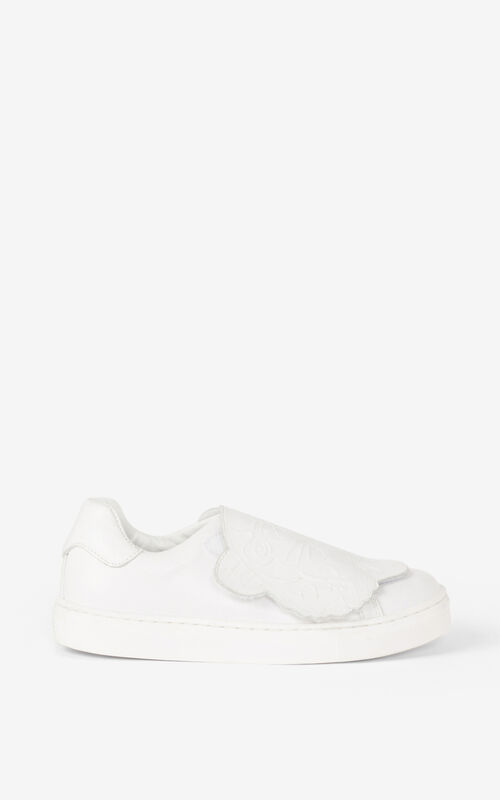 OFF WHITE Tiger leather sneakers for women KENZO
