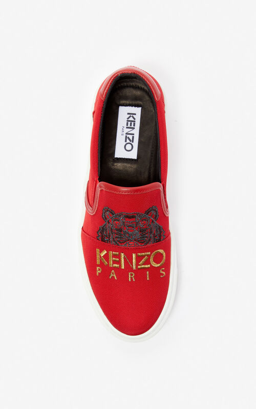 MEDIUM RED K-Skate Tiger loafers for unisex KENZO