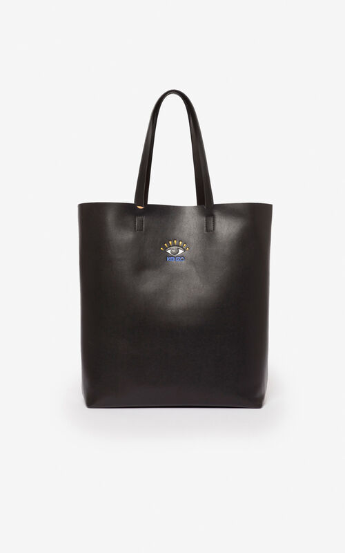 BLACK Eye tote bag for unisex KENZO
