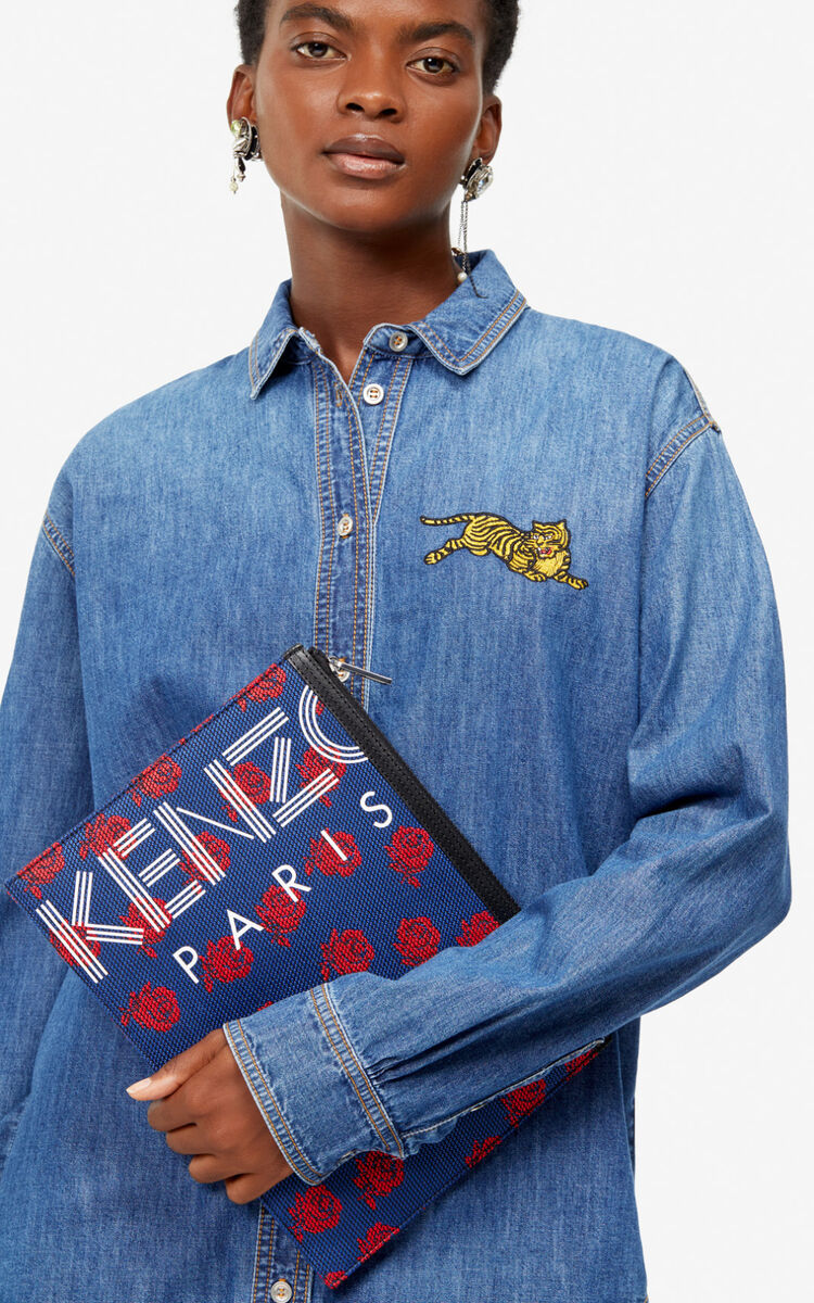 INK Denim 'Jumping Tiger' shirt for women KENZO
