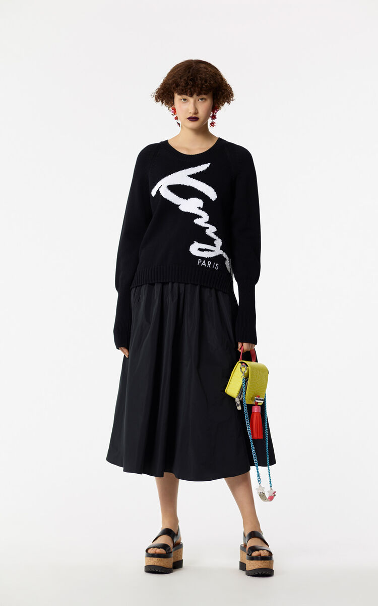 BLACK KENZO signature jumper for women