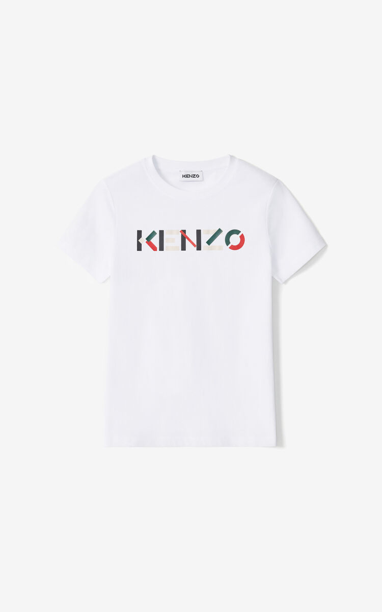 WHITE KENZO Logo T-shirt for women