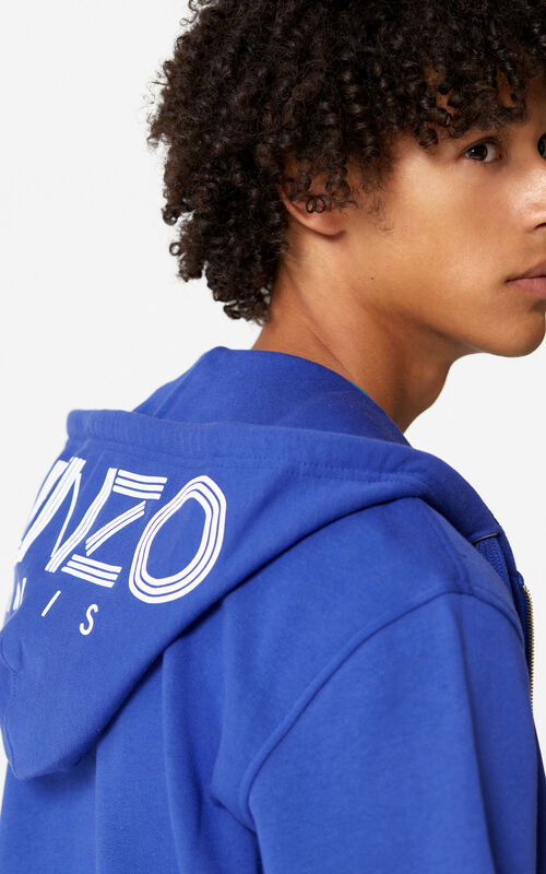 FRENCH BLUE KENZO Logo Hoodie for global.none