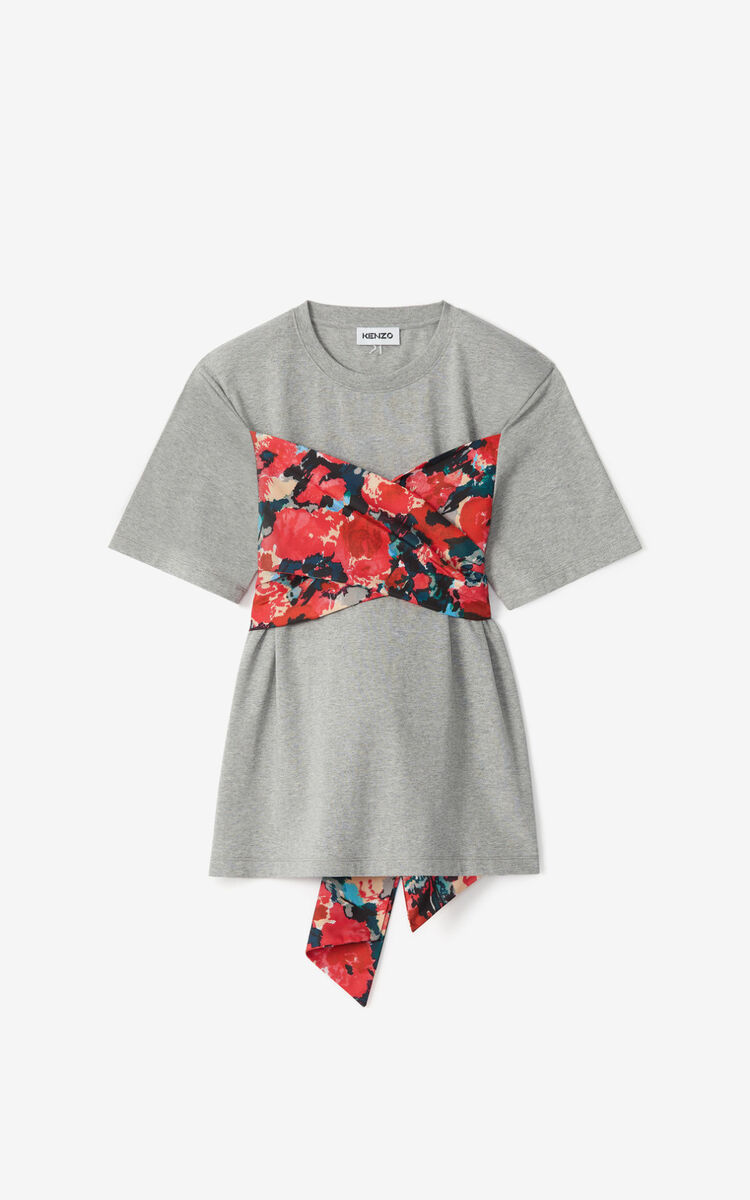 PEARL GREY 'Aquarelle' bustier T-shirt for women KENZO