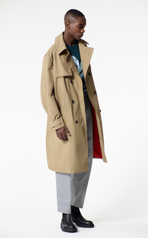 DARK CAMEL Trench coat for men KENZO