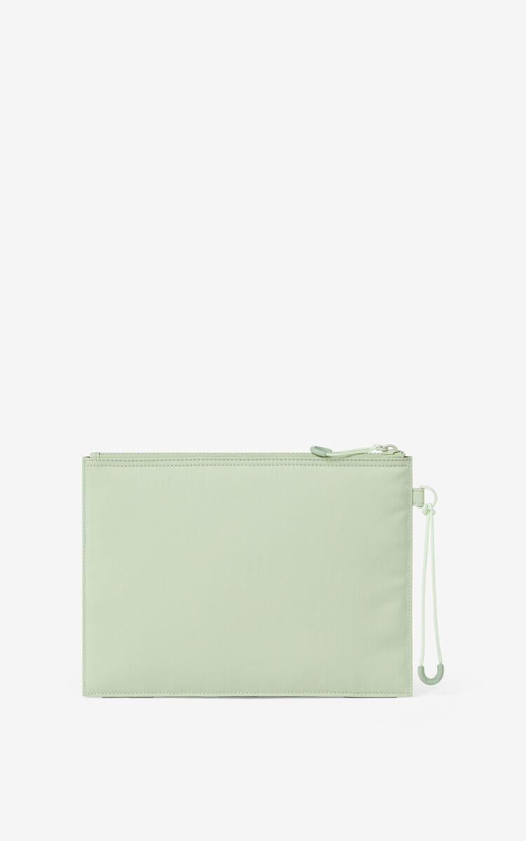 ALMOND GREEN KENZO Sport large clutch  for men