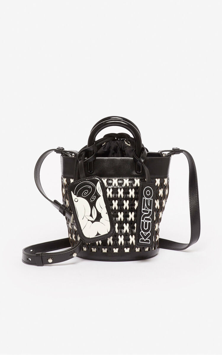 BLACK 'Shrimps' mini tote bag for unisex KENZO