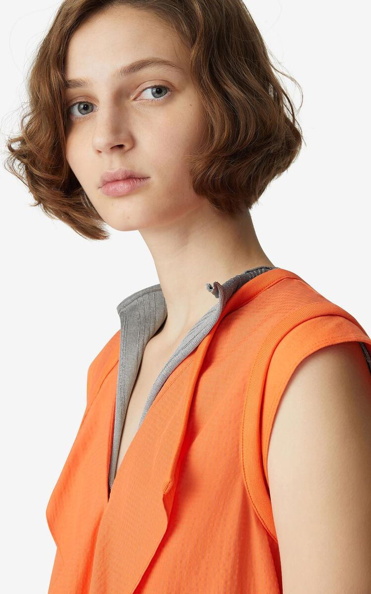 MEDIUM ORANGE Sleeveless top for women KENZO