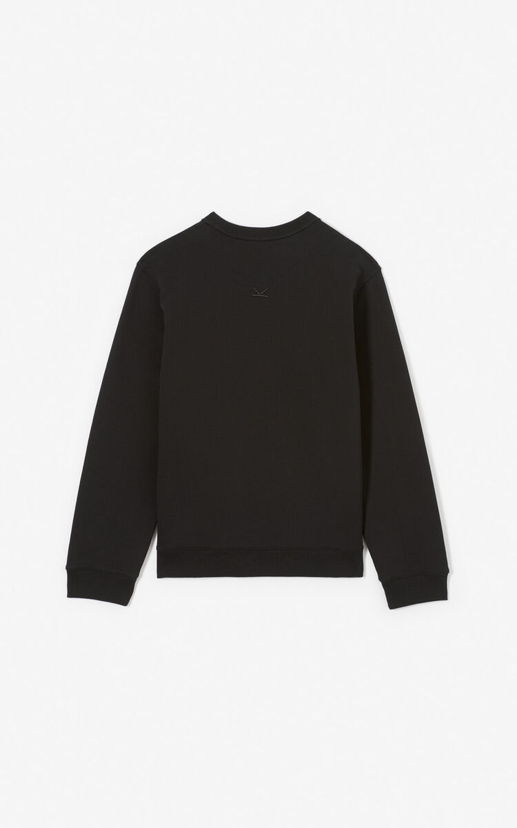 BLACK 'Tiger Square' sweatshirt for men KENZO