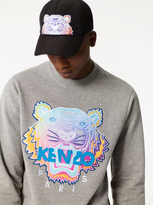 DOVE GREY 'Rainbow' Tiger Sweatshirt for men KENZO