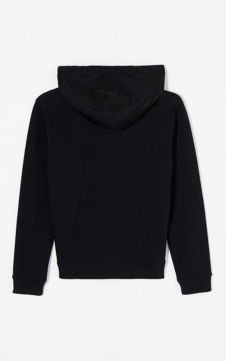 BLACK 'Hyper KENZO' hooded jumper for women
