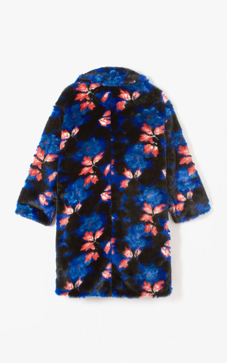 Fausse fourrure 'Indonesian Flower' ANTHRACITE femme KENZO