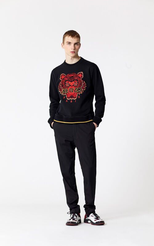 BLACK 'Chinese NY Capsule Collection' Tiger Sweatshirt for men KENZO