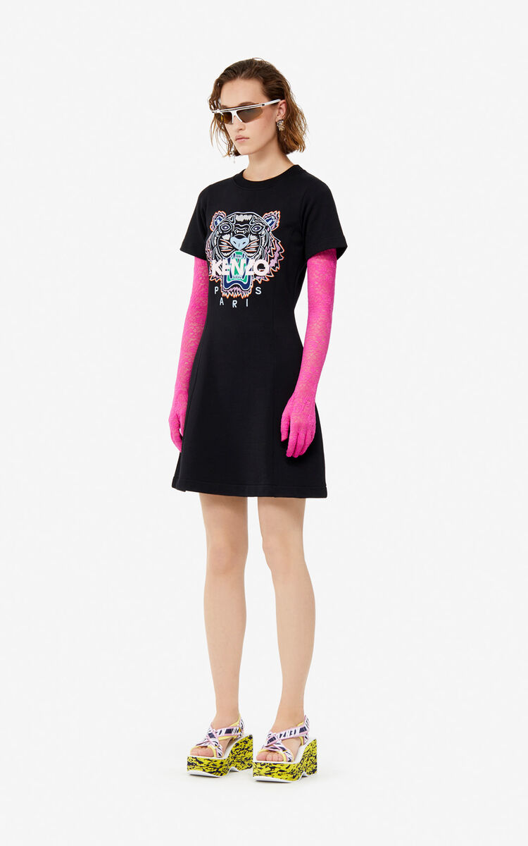 BLACK Tiger dress for women KENZO