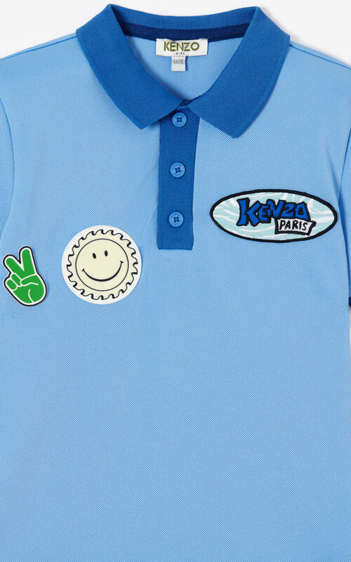 BLUE 'Cali Party' Polo for women KENZO