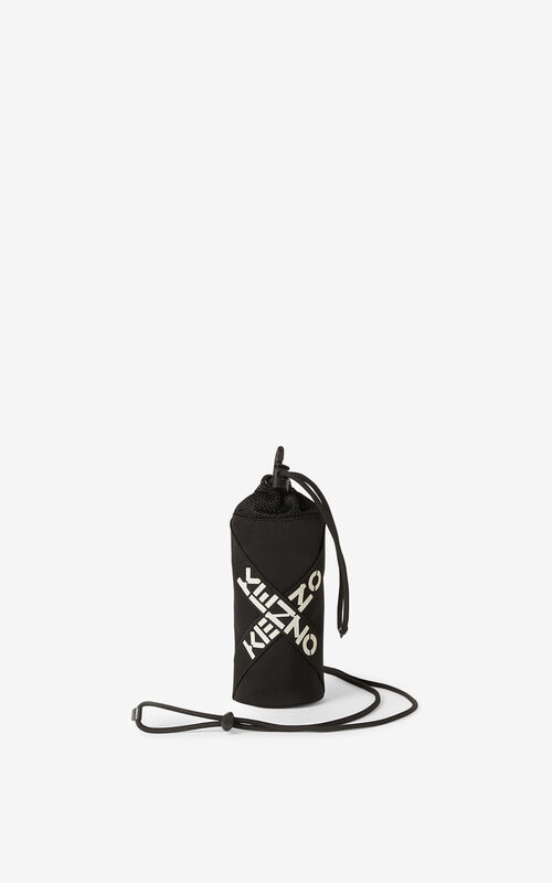 BLACK KENZO Sport crossbody bottle holder for unisex