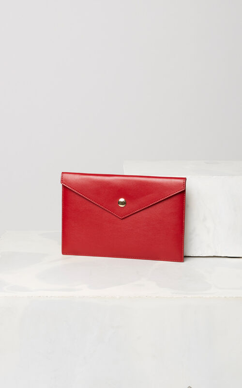 MEDIUM RED Leather A5 Clutch Bag for unisex KENZO