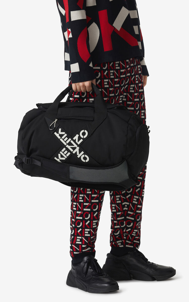 BLACK KENZO Sport 'Big X' travel bag for men