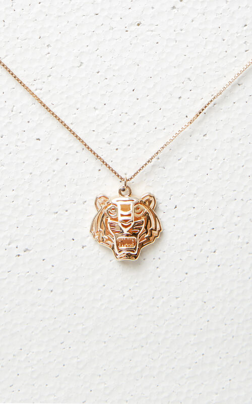 GOLD 3D Tiger necklace for unisex KENZO