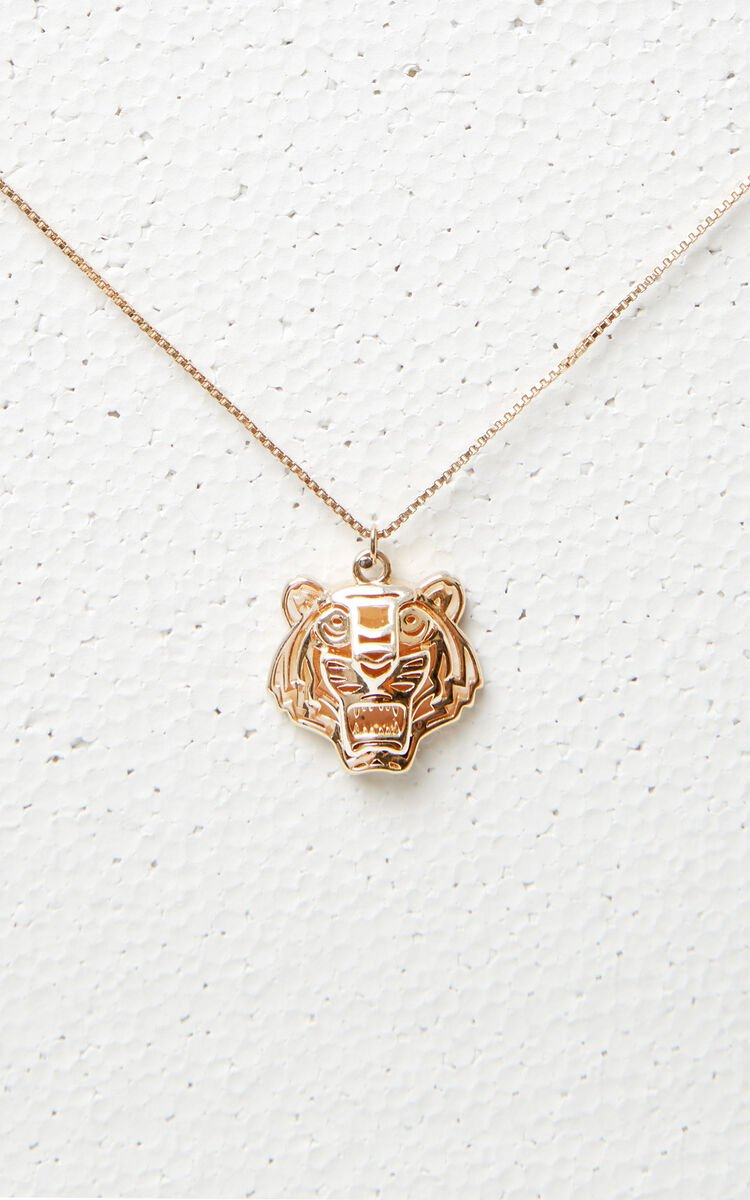 GOLD 3D Tiger Necklace for women KENZO