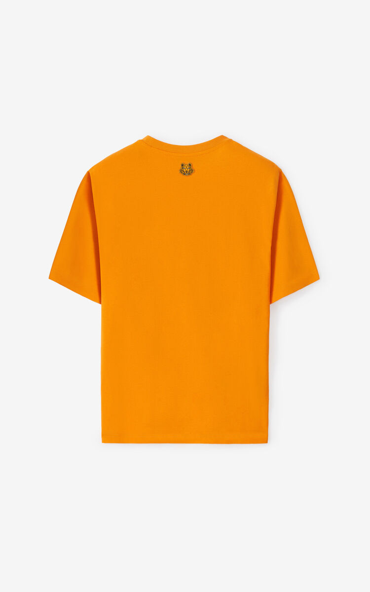 MEDIUM ORANGE K-Tiger oversized T-shirt for men KENZO