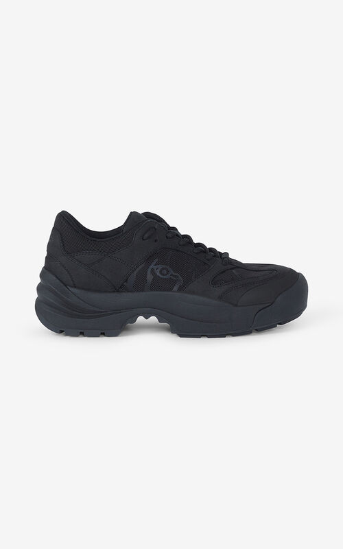 BLACK KENZO Work trainers for unisex