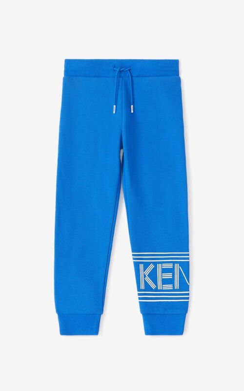 ELECTRIC BLUE KENZO Sport jogging trousers for men